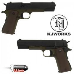 Pistolet 1911 Green Blowback Culasse Full Métal KJWorks