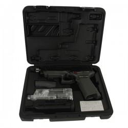 Pistolet GTP9 Noir/Grey G&G Blowback Full Métal Livré en Mallette