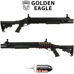 Fusil à Pompe M8874 Métal Noir Golden Eagle