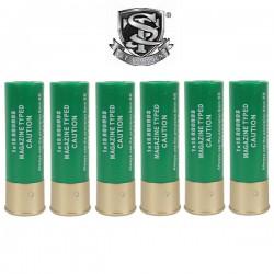 6 Cartouches S&T pour Fusils à Pompe 15 Billes OD
