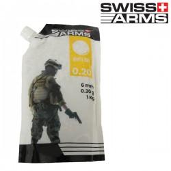 Sachet de Bec Verseur de 1kg de Billes 0,20grs Blanche Swiss Arms